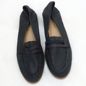 Lucky Brand Loafers Flats Black Leather 8.5